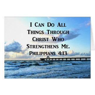 LOVELY PHILIPPIANS 4:13 BIBLE VERSE CARD