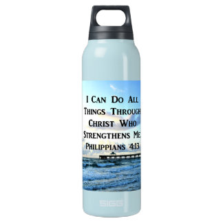 LOVELY PHILIPPIANS 4:13 BIBLE VERSE INSULATED WATER BOTTLE