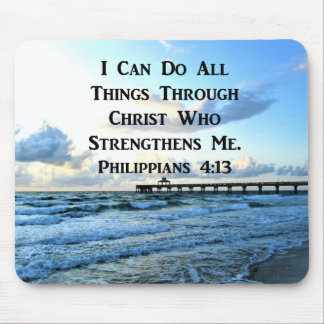LOVELY PHILIPPIANS 4:13 BIBLE VERSE MOUSE PAD