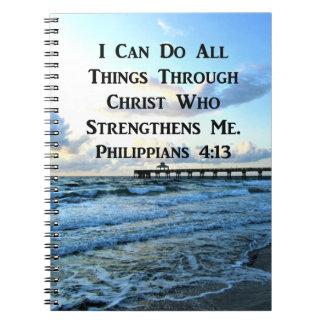 LOVELY PHILIPPIANS 4:13 BIBLE VERSE NOTEBOOK