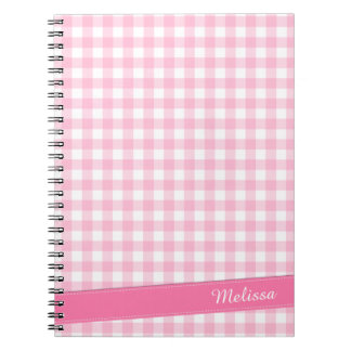 Lovely Pink Checkered Personalized | Notebook