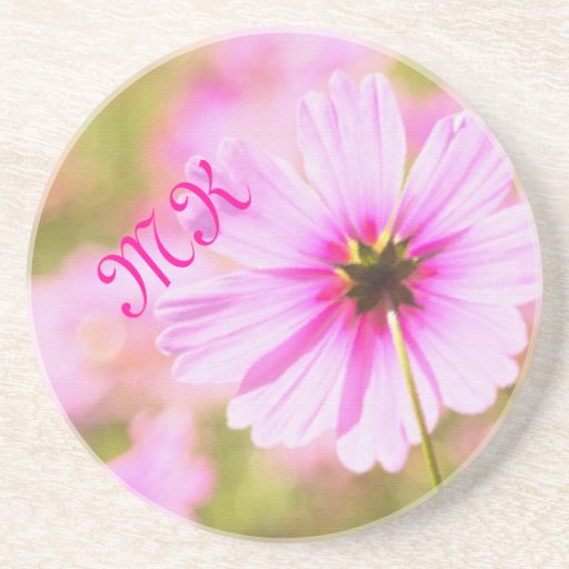 Lovely Pink Cosmos Field Flower Park Painterly Drink Coaster
