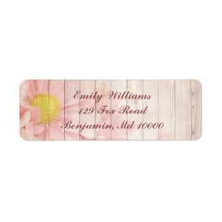 Lovely Pink Floral Return Address Label