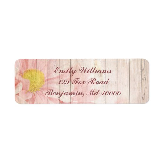 Lovely Pink Floral Return Address Label