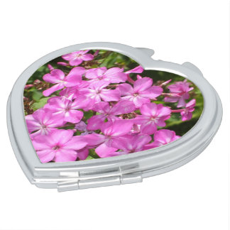 Lovely  Pink Flowers Vanity Mirrors