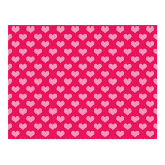 Lovely pink Hearts Postcard