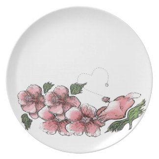 Lovely Pink Hibiscus Dinner Plate