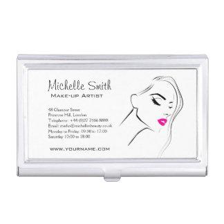 Lovely pink lips make up artist  branding business card holder