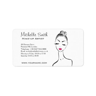 Lovely pink lips make up artist  branding label