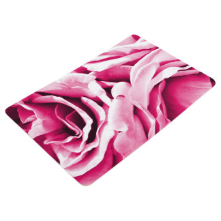 Lovely pink roses floral photo floor mat