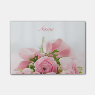 Lovely Pink Roses Post-it Notes