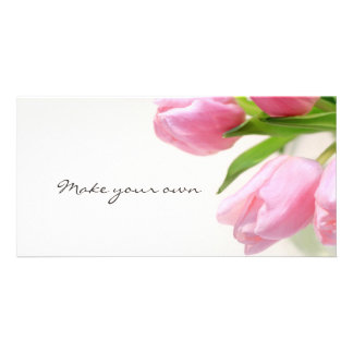 Lovely pink tulips photo cards