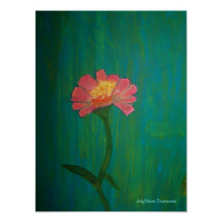 Lovely Pink Zinnia Poster