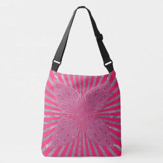Lovely Pretty  Pink Spades design art Crossbody Bag