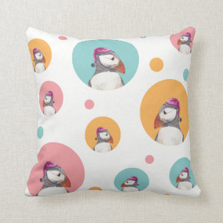 Lovely puffins for Christmas pillow