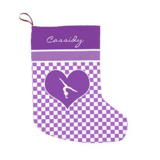 Lovely Purple Checkered Gymnastics with Monogram