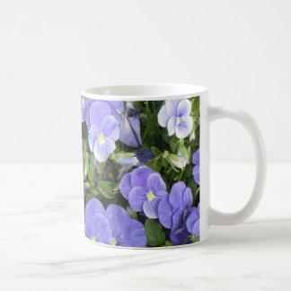 Lovely Purple Flowers on a Coffee Mug