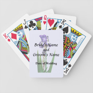 Lovely Purple Iris Bicycle Playing Cards