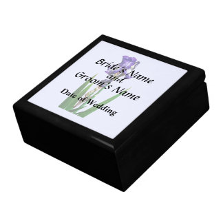 Lovely Purple Iris Gift Box