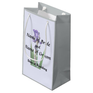 Lovely Purple Iris Small Gift Bag
