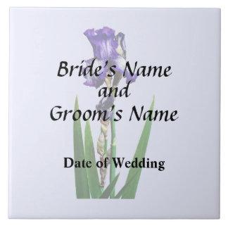 Lovely Purple Iris Tile