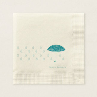 Lovely rain disposable serviettes