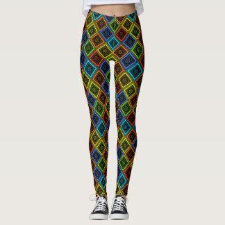 Lovely Rainbow Geometrical Diamonds Nice Yoga Chi Leggings