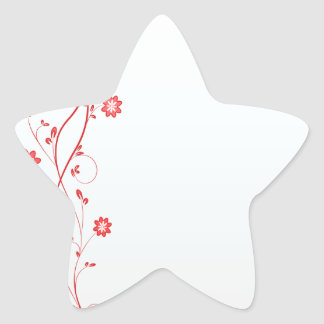 Lovely red blossom gift stickers