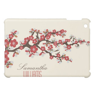 Lovely Red Cherry Blossom  Case For The iPad Mini