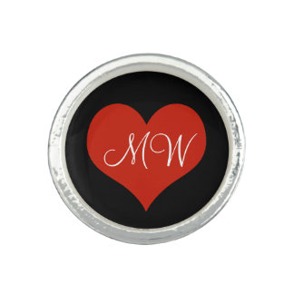 lovely red heart personalized
