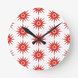 Lovely red star Acrylic Wall Clock
