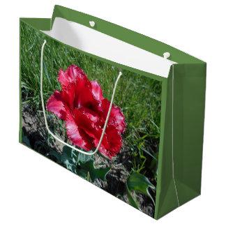 Lovely Red Tulip Large Gift Bag