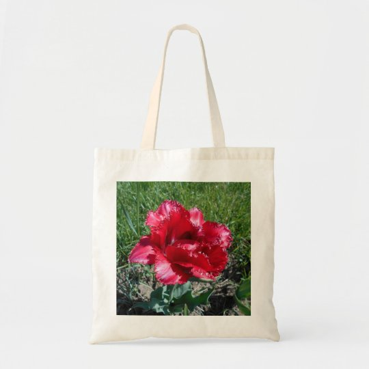 Lovely Red Tulip Tote Bag