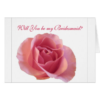 Lovely Rose Bridesmaid Note Card