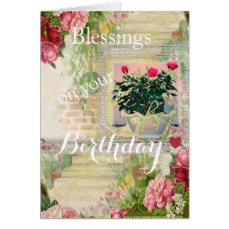 Lovely Rose Garden Birthday Card