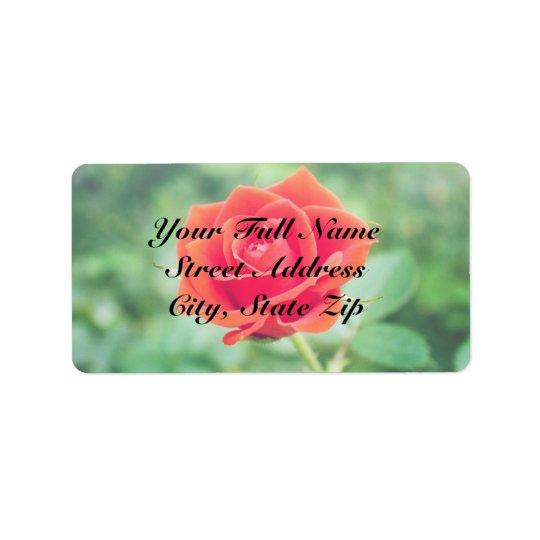 Lovely Rose Label