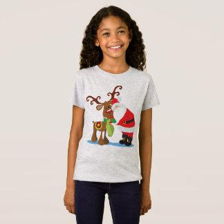 Lovely Santa Claus and Reindeer   Jersey Shirt