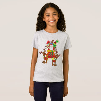 Lovely Santa Claus and Reindeers   Jersey Shirt