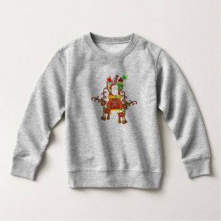 Lovely Santa Claus and Reindeers | Sweatshirt