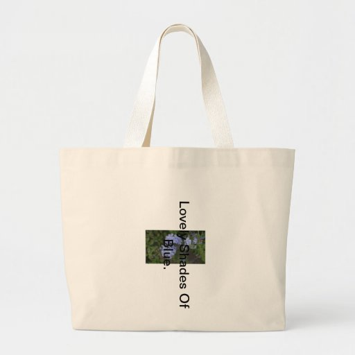 Lovely Shades Of Blue Jumbo Tote Bag.