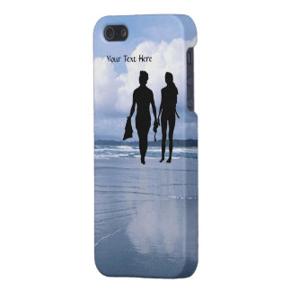 Lovely Silhouette of Husband & Wife at the Beach iPhone 5/5S Covers