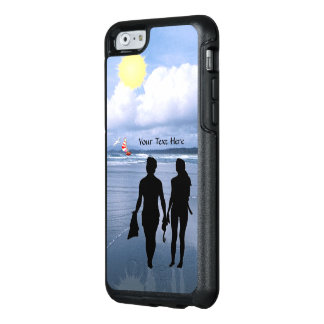 Lovely Silhouette of Husband & Wife at the Beach OtterBox iPhone 6/6s Case