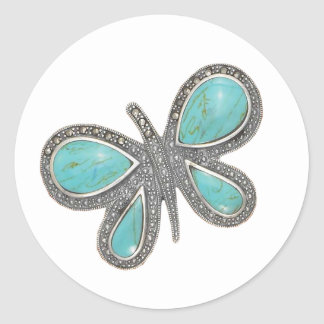 Lovely silver butterfly Wedding Stickers