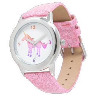 Lovely Sleeping Unicorn Rainbow Wrist Watch