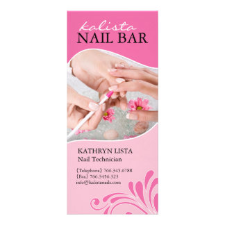 Lovely Spa and Nail Technician Rack Card