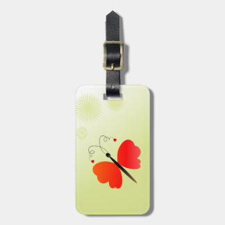 Lovely spring butterfly bag tag