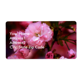 Lovely Spring Pink Cherry Blossoms Shipping Label