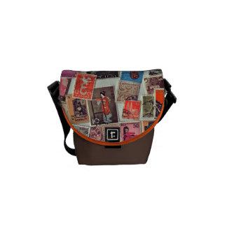 Lovely Stamps Small Messenger Bag