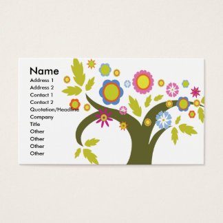 lovely summer tree vector business card