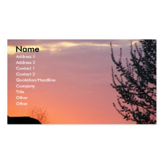 Lovely Sunset Business Card Template